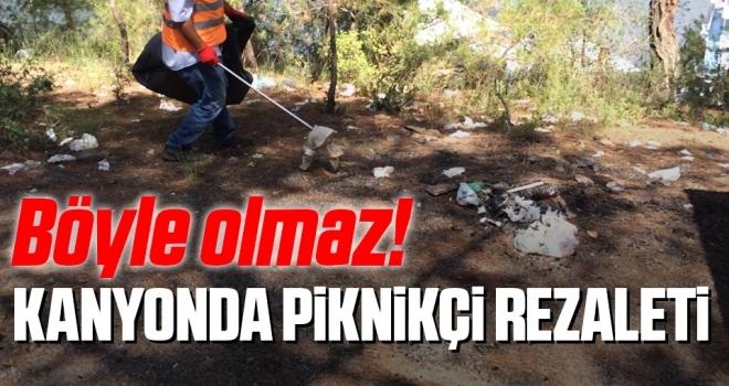 Böyle Olmaz! Samsun'da Şahinkaya Kanyonu'nda Piknikçi Rezaleti