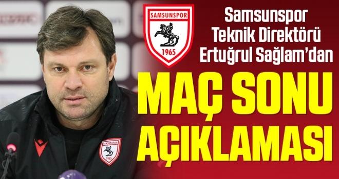 Samsunspor Teknik Direktörü Ertuğrul Sağlam'dan Eskişehirspor Maçı Sonrası Açıklama