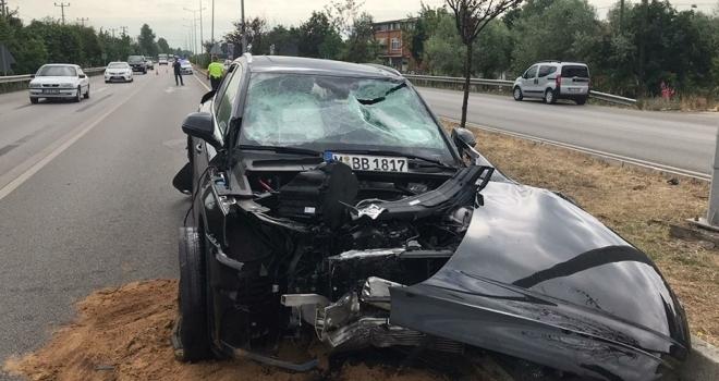 Samsun'da otomobil ile tır çarpıştı: 2 yaralı