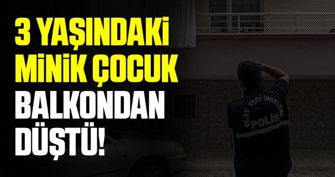 Samsun'da 3 Yaşındaki Çocuk Balkondan Düştü!