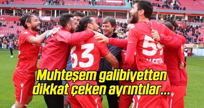 Yılport Samsunspor'un muhteşem galibiyetinden dikkat çeken ayrıntılar
