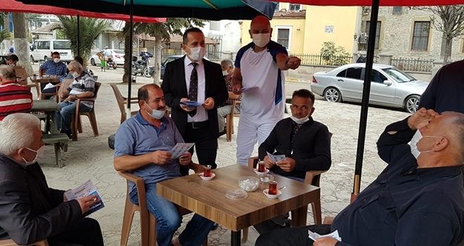 Alaçam'da Anonslu maske uyarısı