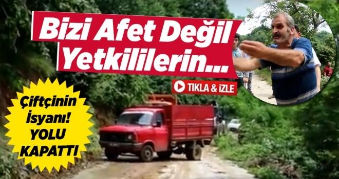 Samsun'un Salıpazarı İlçesinde Çiftçinin İsyanı!