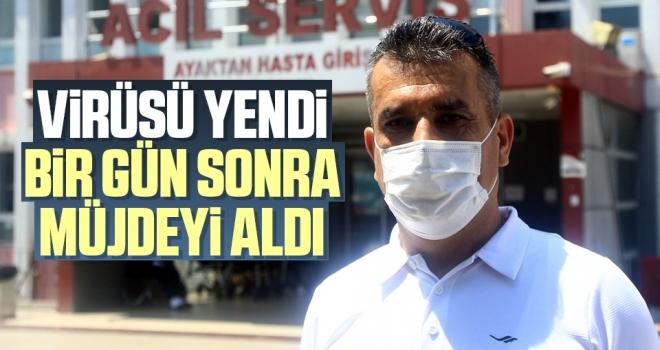 Samsun'da Virüsü Yendi Bir GünSonra Müjdeyi Aldı