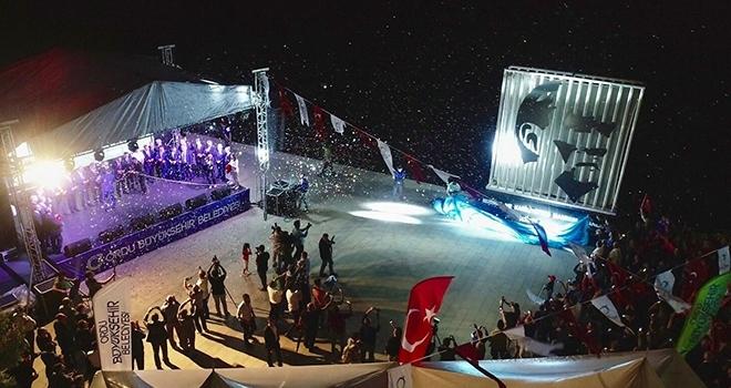 Ordu'da Atatürkportresi açılışı