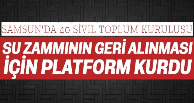 Samsun'da Su Zammı Geri Alınsın Diye Platform Kuruldu