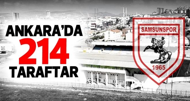 Ankara'da Samsunspor taraftarına 214 bilet