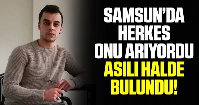Samsun'da Kayıp genç elektrik direğinde asılı bulundu