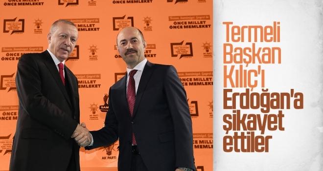 Termeli Başkan Kılıç'ı Erdoğan'a şikayet ettiler