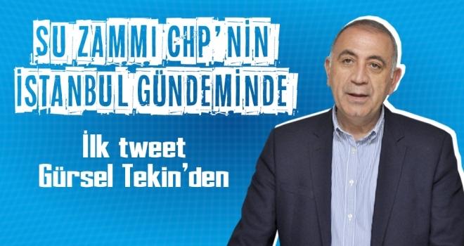 CHP'li Gürsel Tekin, Samsun'daki Su Zammını İstanbul'da Eleştirdi