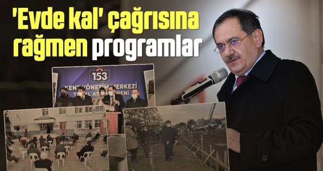 'Evde kal' çağrısına rağmen Samsun Büyükşehir Belediye Başkanı Mustafa Demir'den programlar