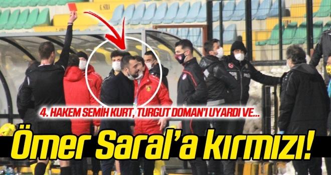 Ömer Saral'a kırmızı kart!