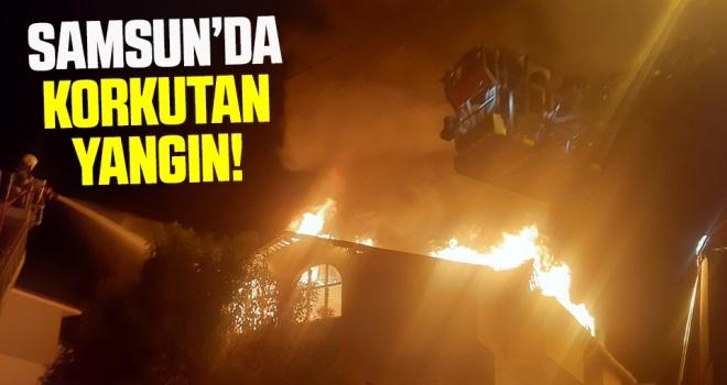 Samsun'da Korkutan Yangın!