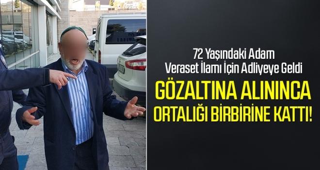 Samsun'da Veraset İlamı İçin Adliyeye Gelen Adam Tutuklandı!
