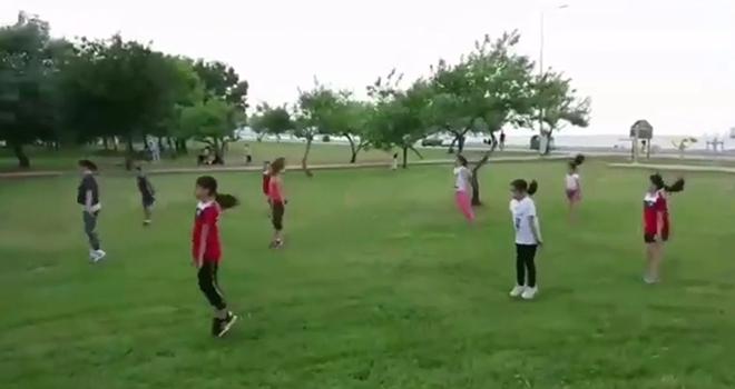 Cimnastik Kulübü sporcuları Doğa İle İç İçe