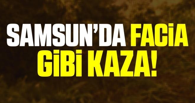Samsun'da Otomobil Fındık Tarlasına Uçtu: 4'ü Çocuk 8 Yaralı