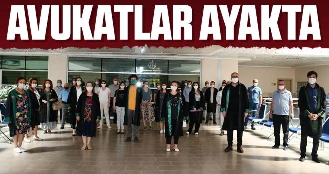 Samsun'da Avukatlar Ayakta