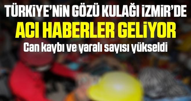İzmir'deki depremde son dakika gelişmesi: Ölü ve yaralı sayısı yükseldi