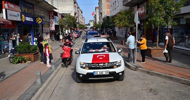 Samsun'da 29 Ekim konvoyu