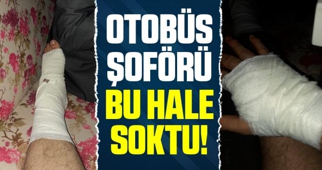 Samsun'da Otobüs Şoförü Bu Hale Soktu!