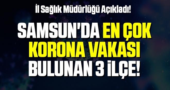 Samsun'da Korona Vakalarının En Yoğun Olduğu 3 İlçe!