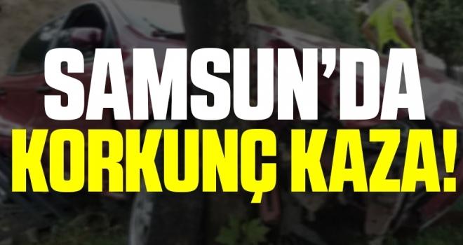 Samsun'da Korkunç Kaza!