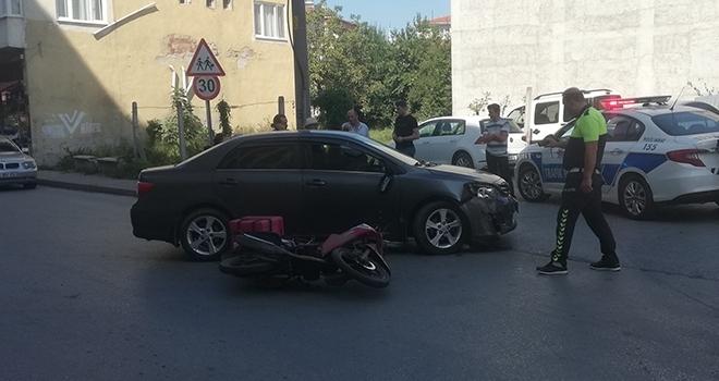 Samsun'da Otomobil ile motosiklet çarpıştı: 1 yaralı