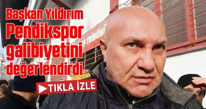 Samsunspor Futbol Kulübü A.Ş Başkanı Yüksel Yıldırım, Pendikspor galibiyetini değerlendirdi