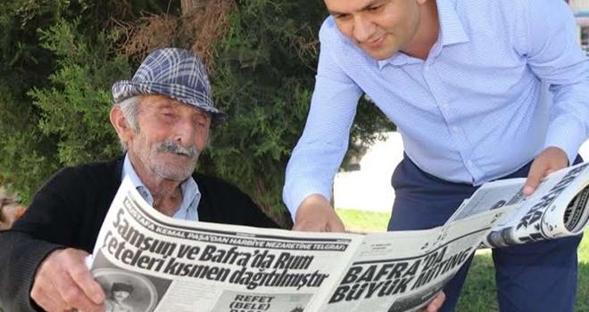 Bafralılardan 100. yıl gazetesine yoğun ilgi