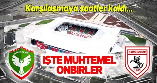 Amed Sportif Faaliyetler - Yılport Samsunspor (Muhtemel 11'ler)