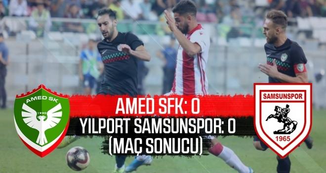 Amed Sportif Faaliyetler Kulübü - Yılport Samsunspor: 0-0 (Maç Sonucu)