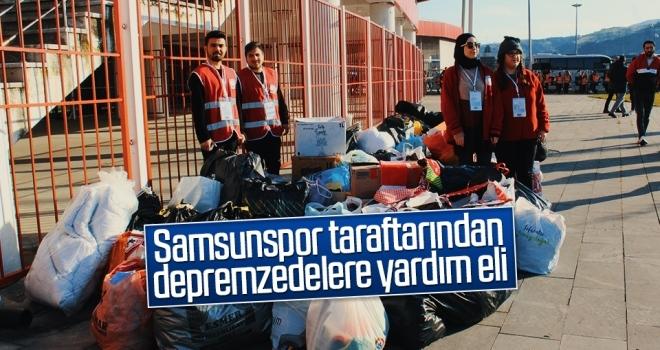 Samsunspor taraftarından depremzedelere yardım eli