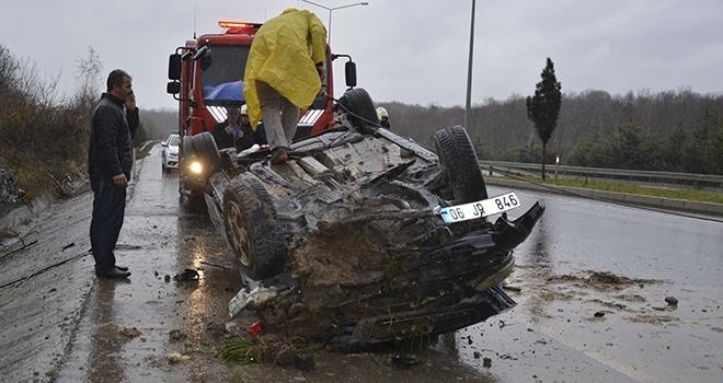 Test SürüşündeKaza: 3 Yaralı