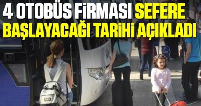 4 otobüs firması şehirlerarası yolculuk tarihini açıkladı! HES kodu alınacak