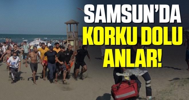 Samsun'da Denizde Korku Dolu Anlar!
