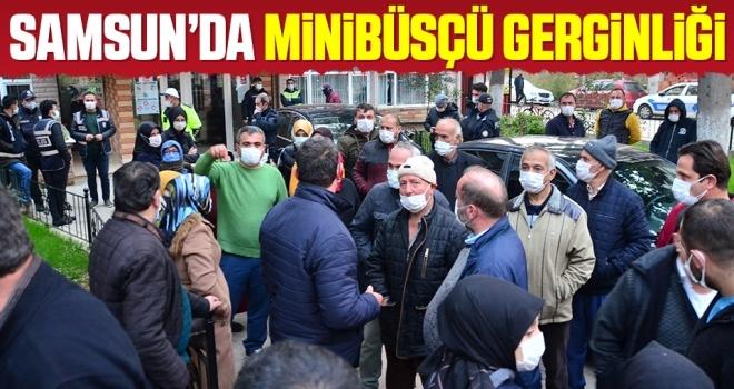 Samsun'da minibüsçü gerginliği