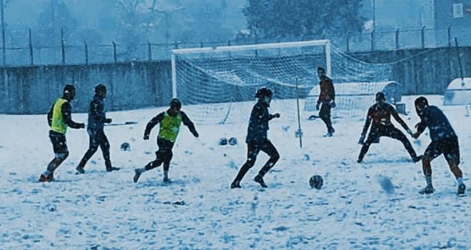 Çarşambaspor'u Kar Durdurmadı