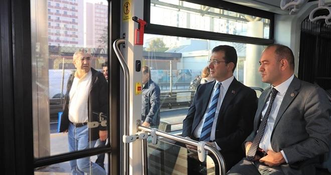 İmamoğlu Yerli Üretim Metrobüsün Test Sürüşüne Katıldı
