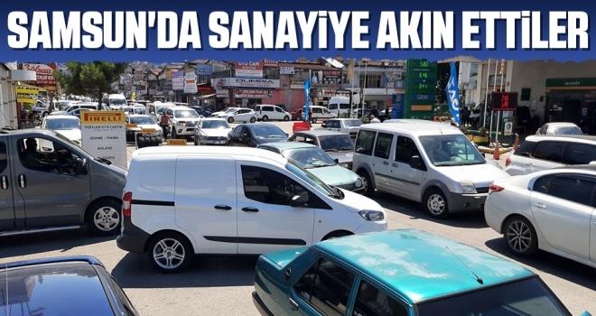 Samsun'da Sanayiye Akın Ettiler