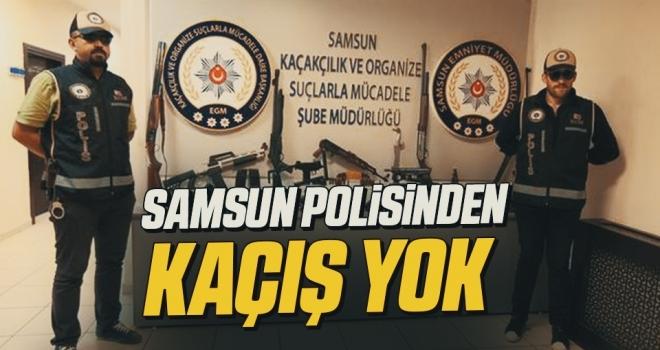 Samsun polisindenKAÇIŞ YOK