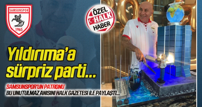 Başkan Yıldırım'a sürpriz parti: 'Yeni hayatına hoşgeldin'