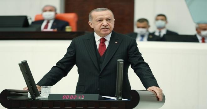 Cumhurbaşkanı Erdoğan: Ermenistan yönetimini Türkiye'ye iftira atma gayreti de kurtaramayacak