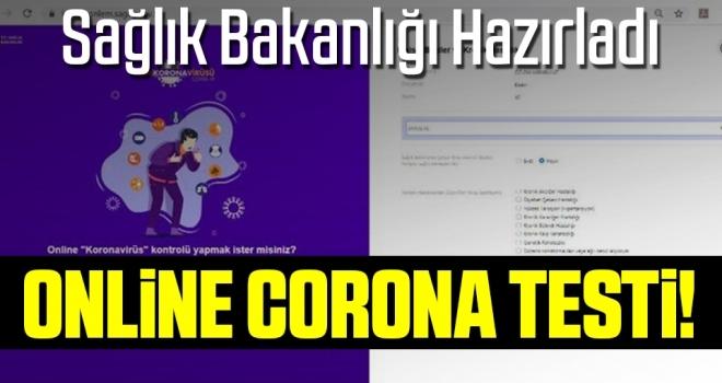 Sağlık Bakanlığı açtı! İnternetten Corona Testi