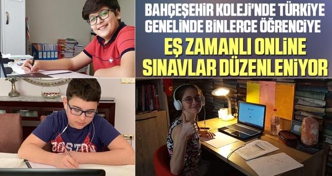 Bahçeşehir Koleji'nde Türkiye Genelinde Binlerce Öğrenciye Eş Zamanlı Online Sınavlar Düzenleniyor