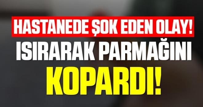 Samsun'da Hastanede Şok Eden Olay! Güvenlik Görevlisinin Isırarak Parmağını Kopardı