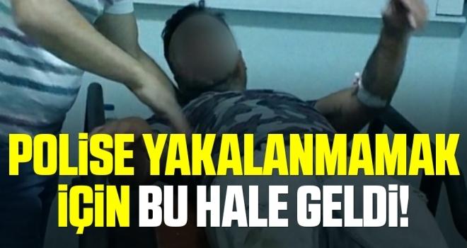 Samsun'da Polise Yakalanmamak İçin Bu Hale Geldi!
