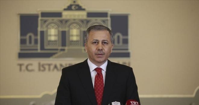 İstanbul Valisi Yerlikaya Açıkladı bugün saat 17:00 itibariyle durduruldu