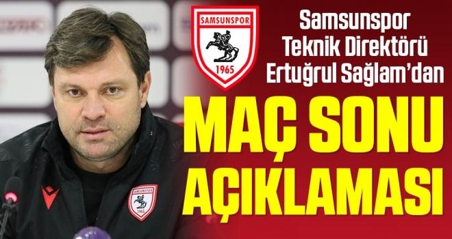 Samsunspor Teknik Direktörü Ertuğrul Sağlam'dan Ankara Keçiörengücü Maçı Sonrası Açıklama