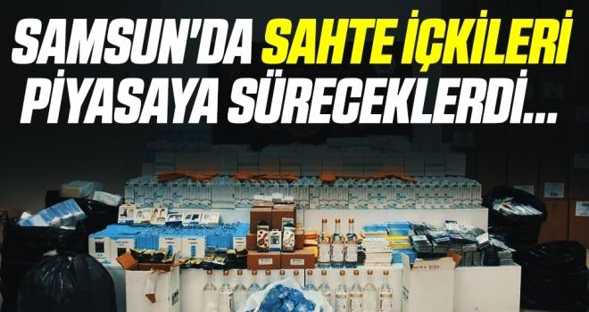 Samsun'da Sahte İçkileri Piyasaya Süreceklerdi! 7 Kişiye Gözaltı