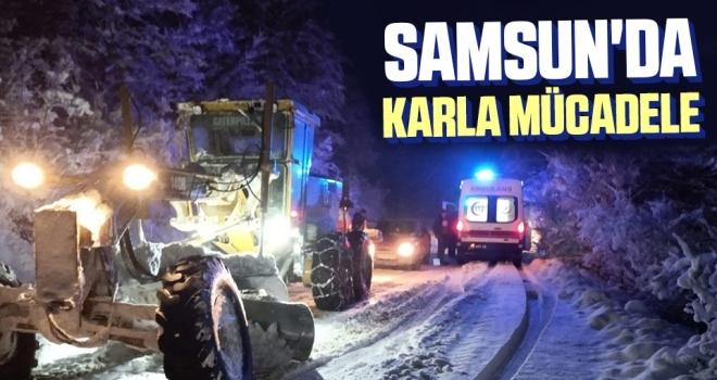 Samsun'da Karla Mücadele